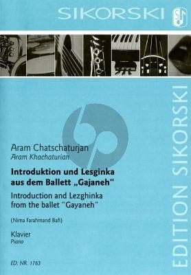 """Khachaturian Introduktion und Lesginka aus dem Ballett """"Gajaneh"""" für Klavier (arr. Nima Farahmand Bafi)"""