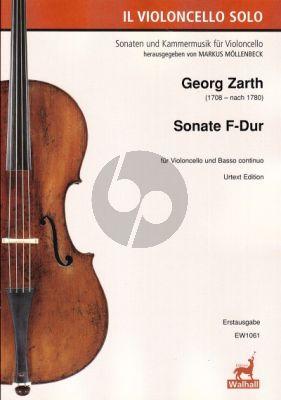 Zarth Sonate F-dur Violoncello-Bc (Markus Möllenbeck)