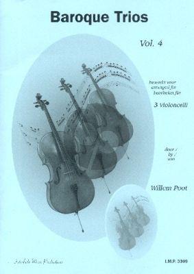 Baroque Trios Vol.4 3 Violoncelli (Score/Parts) (transcr. Willem Poot)