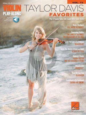 Taylor Davis – Favorites (Violin Play-Along Volume 73) (Book with Audio online)