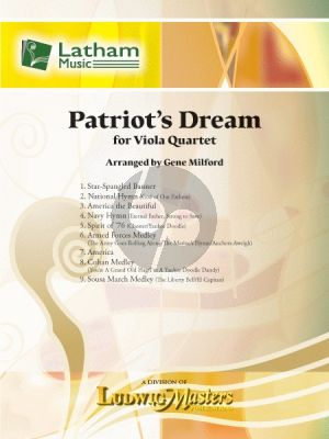 Patriot's Dream for Viola Quartet
