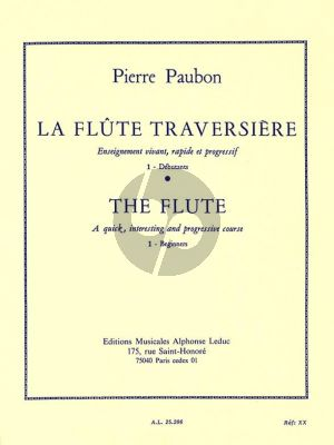 Paubon La Flute Traversiere Vol. 1 Debutants