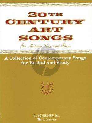 20th Century Art Songs for Recital and Study (Medium Voice and Piano)
