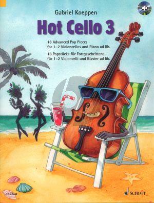 Koeppen Hot Cello Volume 3 - 18 Advanced Pop Pieces