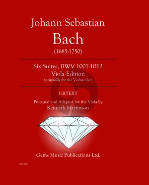 Bach J.S. Six Suites BWV 1007-1012 Viola originally Cello (Prepared and adapted by Kenneth Martinson)