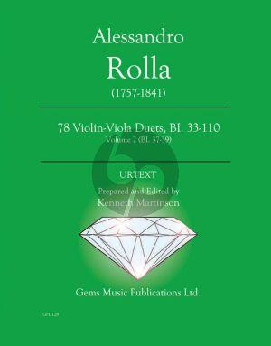 Rolla 78 Duets Volume 2 BI. 37 - 39 Violin - Viola (Prepared and Edited by Kenneth Martinson) (Urtext)