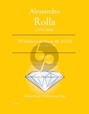 Rolla 78 Duets Volume 4 BI. 43 - 46 Violin - Viola (Prepared and Edited by Kenneth Martinson) (Urtext)