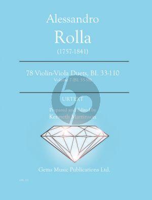 Rolla 78 Duets Volume 7 BI. 55 - 58 Violin - Viola (Prepared and Edited by Kenneth Martinson) (Urtext)
