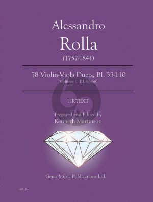 Rolla 78 Duets Volume 9 BI. 63 - 66 Violin - Viola (Prepared and Edited by Kenneth Martinson) (Urtext)