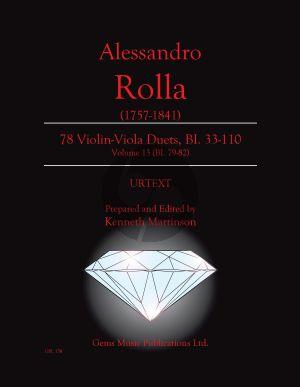 Rolla 78 Duets Volume 13 BI. 79 - 82 Violin - Viola (Prepared and Edited by Kenneth Martinson) (Urtext)