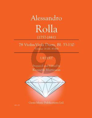 Rolla 78 Duets Volume 14 BI. 83 - 86 Violin - Viola (Prepared and Edited by Kenneth Martinson) (Urtext)