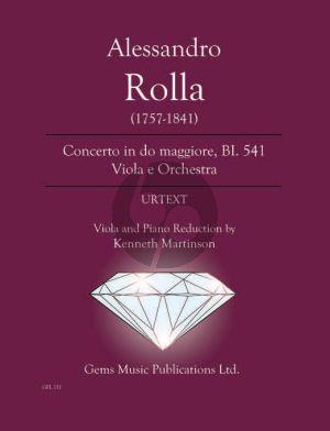 Rolla Concerto in do maggiore BI. 541 Viola e Orchestra Viola - Piano (Prepared and Edited by Kenneth Martinson) (Urtext)