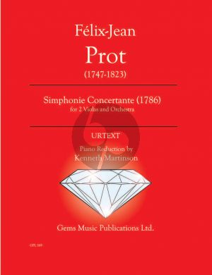 Prot Simphonie Concertante (1786) for 2 Violas - Piano (Prepared and Edited by Kenneth Martinson) (Urtext)