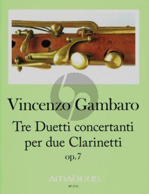 Gambaro Tre Duetti concertanti Opus 7 2 Klarinetten (Harry Joelson)