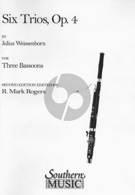 Weissenborn 6 Trios Op.4 3 Bassoons (Score/Parts) (edited by R. Mark Rogers)