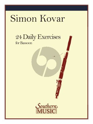 Kovar 24 Daily Exercises for Bassoon