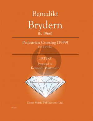 Brydern Pedestrian Crossing (1999) for 4 Violas (Prepared and Edited by Kenneth Martinson) (Urtext)