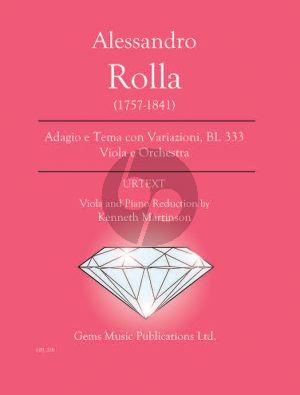Rolla Adagio e Tema con Variazioni BI. 333 Viola- Piano (Prepared and Edited by Kenneth Martinson) (Urtext)