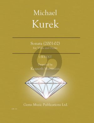 Kurek Sonata for Viola - Piano (2001-02) (Prepared and Edited by Kenneth Martinson) (Urtext)