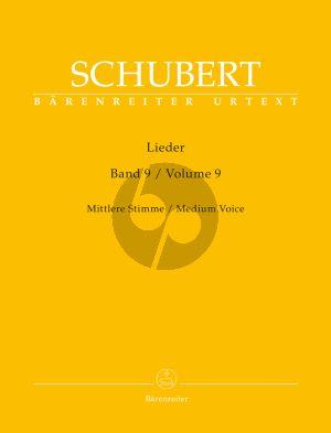 Schubert Lieder Vol. 9 Mittel / Medium (edited by Walther Durr) (Barenreiter-Urtext)