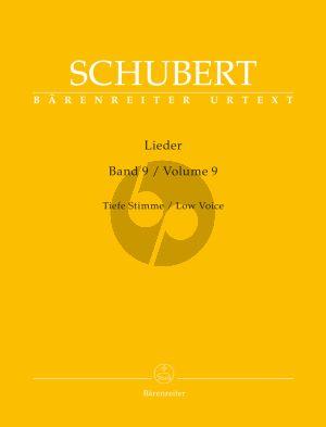 Schubert Lieder Vol. 9 Tief / Low (edited by Walther Durr) (Barenreiter-Urtext)