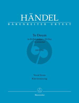 Handel Te Deum B-dur HWV 281 (Cannons) STTTB-Orchester (Klavierauszug) (Graydon Beeks)