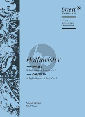 Hoffmeister Konzert in D-Dur Kontrabass und Orchester Studienpartitur (Urtext) (herausgegeben von Tobias Glockler)