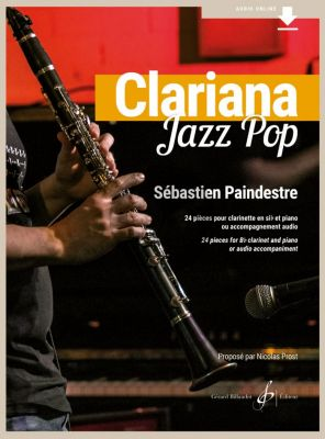 Paindestre Clariana Jazz Pop Clarinet - Piano (24 pieces Book with Audio Online)
