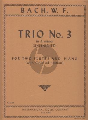 Bach Trio No. 3 a-minor for 2 Flutes and Piano (Vc ad lib.) (Max Seiffert)