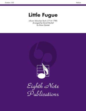 Bach Little Fugue for Brass Quintet (Eighth Note Publications) (Score/Parts) (arr. David Marlatt)