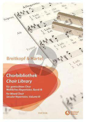 Breitkopf Chorbibliothek Band 3 Weltliches Repertoire – für gemischten Chor