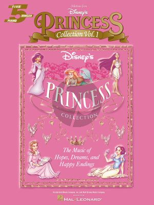 Disney'S Princess Collection Vol. 1 5 Finger Piano