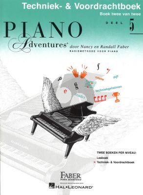 Faber Piano Adventures Techniek- & Voordrachtboek 5 Nederlandse editie
