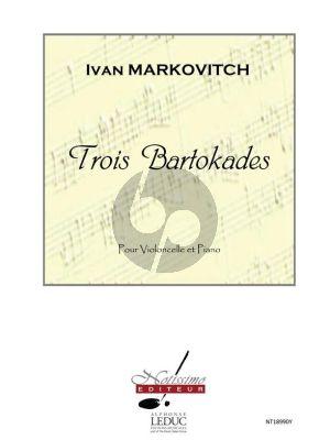 Markovitch 3 Bartokades Violoncelle et Piano