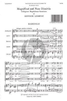 Leighton Magnificat And Nunc Dimittis (Magdalen Service) (SATB and Organ)