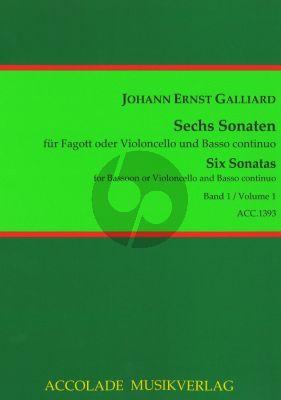 Galliard 6 Sonaten Vol.1 (Fagott oder Violoncello und Basso Continuo) (Continuoausstzung: Antonia Emde)
