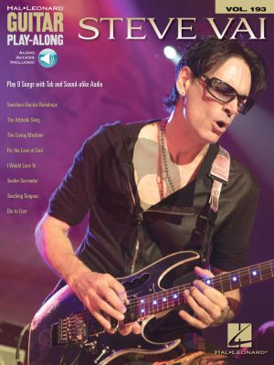 Steve Vai 8 Songs Guitar Play-Along Vol. 193 (Book with Audio online)