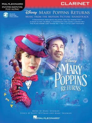 Shaiman Mary Poppins Returns for Clarinet (Hal Leonard Instrumental Play-Along) (Book with Audio online)