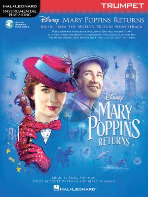 Shaiman Mary Poppins Returns for Trumpet (Hal Leonard Instrumental Play-Along) (Book with Audio online)
