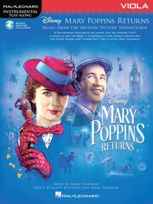 Shaiman Mary Poppins Returns for Viola (Hal Leonard Instrumental Play-Along) (Book with Audio online)