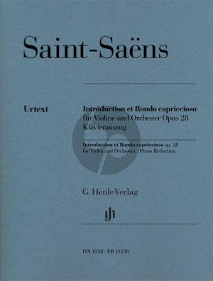 Saint-Saens Introduction et Rondo capriccioso Opus 28 Violine und Orchester (piano reduction) (Peter Jost)