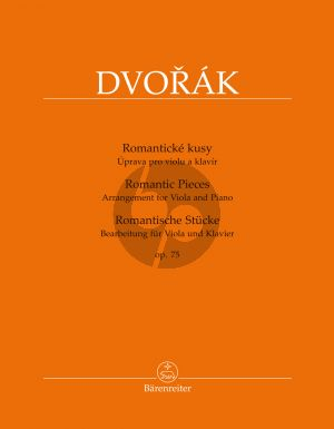 Dvorak Romantic Pieces Opus 75 Viola and Piano (transcr. by Bella Kalinowska and Semjon Kalinowsky)