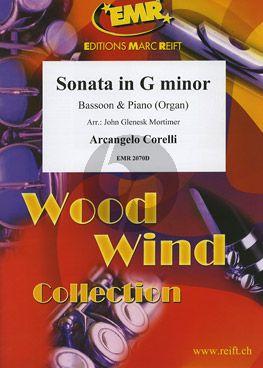 Sonata g-minor Bassoon and Piano [Organ]