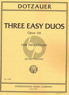Dotzauer 3 easy Duos Opus 114 2 Cellos (Jeffrey Solow)