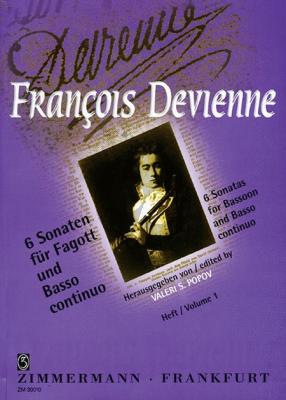 Devienne 6 Sonaten Vol.1 Fagott und Klavier (without Opus No.) (Edited Valeri S. Popov)