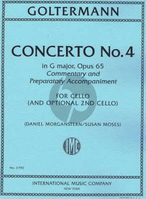 Goltermann Concerto No. 4 G-major Opus 65 2 Violoncellos (edited by Daniel Morganstern and Susan Moses)