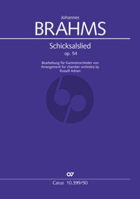 Brahms Schicksalslied Opus 54 Chor mit Kammerorchester (Bearbeitung von Russell Adrian) (Partitur)