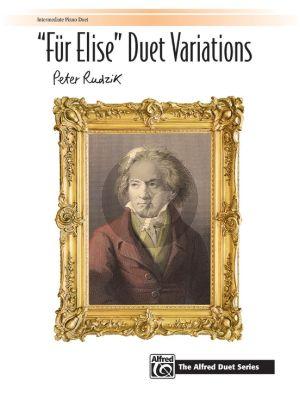 Rudzik Fur Elise Duet Variations Piano 4 hds