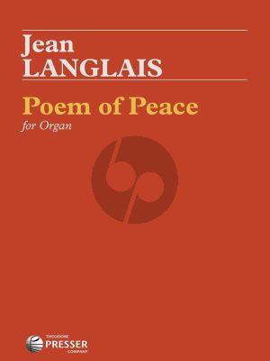 Langlais Poem of Piece for Organ