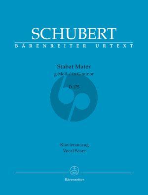 Schubert Stabat Mater g-moll D. 175 SATB-Orchester (Klavierauszug) (Rudolf Faber)